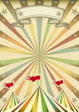 Multicolor circus show. A multicolor circus background with sunbeams for you Royalty Free Stock Photo