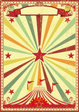Multicolor circus vintage sunbeams background. A vintage and retro background with a big top circus for your entertainment Stock Images