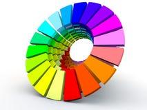 Multicolor cirkel royaltyfri illustrationer