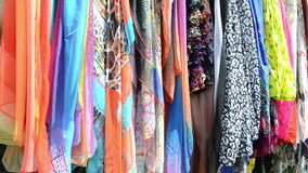 Multicolor cloak shawls Royalty Free Stock Images