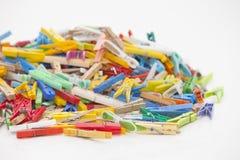 Multicolor clothespins Fotografia Royalty Free