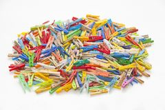 Multicolor clothespins Zdjęcie Royalty Free