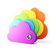 Multicolor clouds Stock Photo