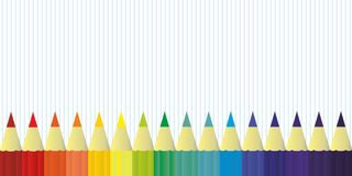 Multicolor colored pencils for school or office rainbow color, background vector Stock Photography