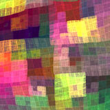 Multicolor colorful checkered pattern for the fabric. Fractal ba Stock Image