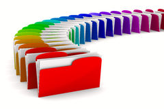 Multicolor computer folder on white background Royalty Free Stock Photo