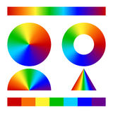 Multicolor conical gradient royalty free illustration