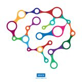 Multicolor connection brain, creative concept of human brain. Vector illustration Stock Photography
