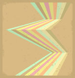 Multicolor cool scratched leaflet. Royalty Free Stock Photo