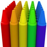 Multicolor crayon image 1 - 3d computer generated Stock Photo