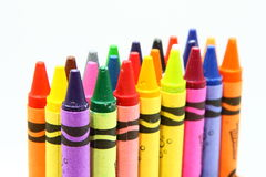 Multicolor crayon pencils Stock Photo