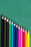 Multicolor crayon pencils Royalty Free Stock Photos