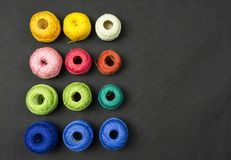 Multicolored crochet thread. Royalty Free Stock Photography
