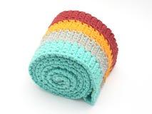 Multicolor crochet-trabaje fotografía de archivo