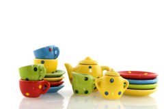 Multicolor crockery Royalty Free Stock Photo