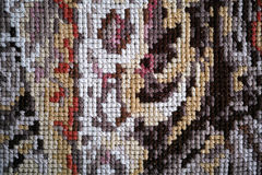 Multicolor cross stitch background Royalty Free Stock Photos