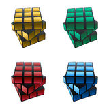 Multicolor cube Royalty Free Stock Photos