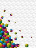 Multicolor cubes background Stock Photo