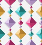 Multicolor cubical garland seamless pattern Stock Photography