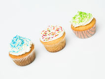 Multicolor cupcakes Stock Photography