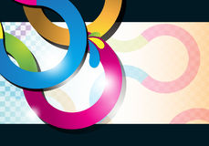 Multicolor curve lines background Royalty Free Stock Photography