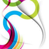 Multicolor curve and wave lines background royalty free illustration
