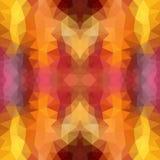 Multicolor czerwień, kolor żółty, pomarańczowa poligonalna ilustracja która składał się trójboki, Geometryczny wzór w Origami sty Zdjęcie Stock