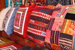 Multicolor de la almohada Imagen de archivo libre de regalías
