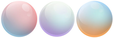 Multicolor de las burbujas de jabón Fotos de archivo