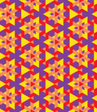 Multicolor decorative seamless geometrical pattern of triangles Royalty Free Stock Images