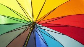 Multicolor del paraguas inferior Foto de archivo libre de regalías