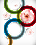 Multicolor design with flower background Stock Photo