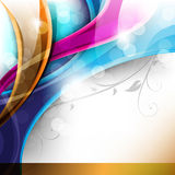 Multicolor design with foliage elements Stock Image