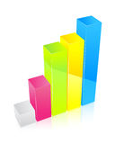 Multicolor diagram Royalty Free Stock Image