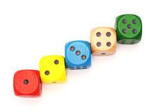 Multicolor dice Royalty Free Stock Photo