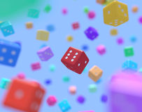 Multicolor dice Stock Photography