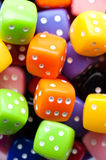Multicolor dices Stock Photos