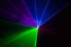 Multicolor disco laser Stock Images
