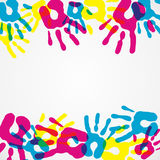 Multicolor diversity hands background Stock Photography