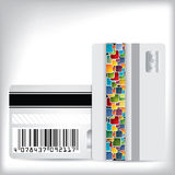 Multicolor dotted loyalty card design Stock Photo