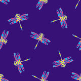 Multicolor dragonfly illustration Stock Photography