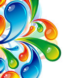 Multicolor drops background Royalty Free Stock Photos