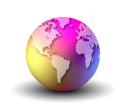 Multicolor Earth Globe Royalty Free Stock Photos