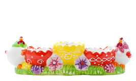 Multicolor Easter egg holder Stock Photo
