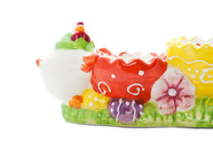 Multicolor Easter egg holder Royalty Free Stock Photos