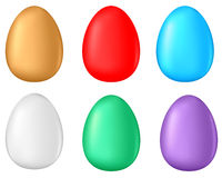 Multicolor egg set Stock Photos