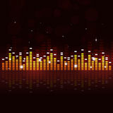 Multicolor Equalizer Music Background Royalty Free Stock Photos