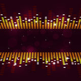 Multicolor Equalizer Poster Royalty Free Stock Image