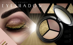 Multicolor eyeshadow ad Royalty Free Stock Photography