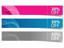 multicolor försäljningsskugga för baner Arkivfoton